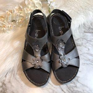 BOC Ankle Strap Sandals Floral Velcro Strap, 9M